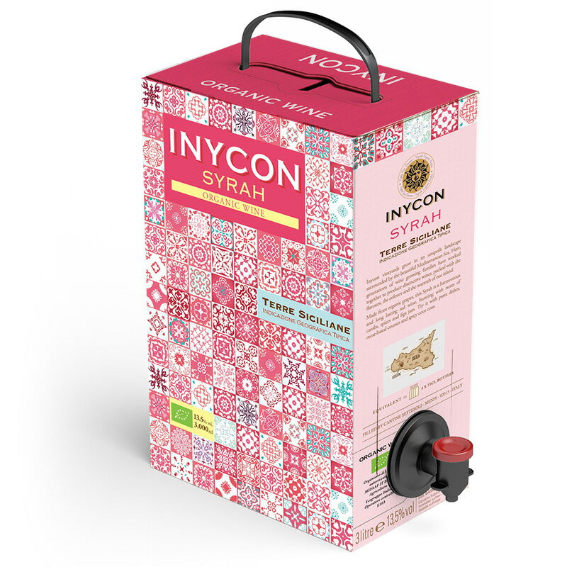 INYCON イニコン オーガニック シラー 3000ml ボックスワイン【1個口6点まで】