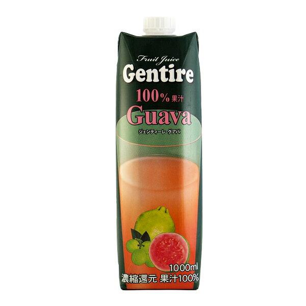 Gentire ジェンティーレ 果汁100% グァバジュース 1000ml 濃縮還元 【16P03Nove15】