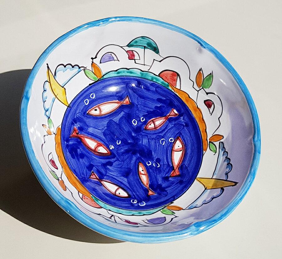 【皿以外同梱不可】展示用陶器 ボウル深皿 17cm A