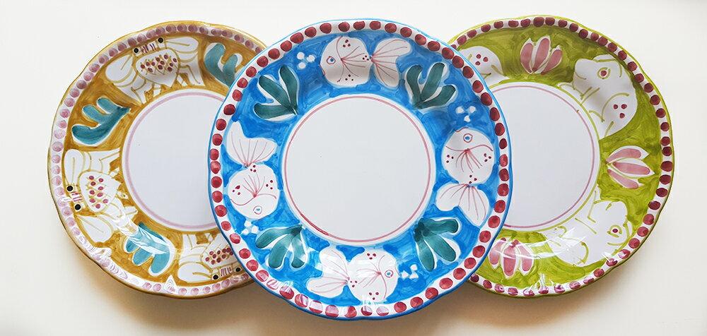 【皿以外同梱不可】【送料無料】展示用陶器 円形 20cm 3枚セット