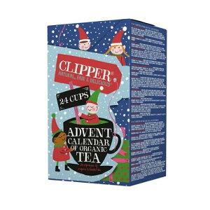 【在庫限り】クリッパー アドベントカレンダー (全12種類・24パック入り) CLIPPER 紅茶 ハーブティー オーガニック クリスマス カウントダウン