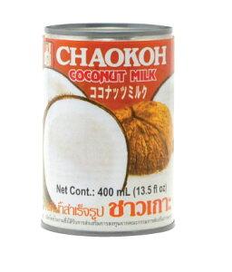 ココナツミルク チャオコーブランド400ml缶 【1個口48缶まで】|ココナッツミルク|カレー|お菓子|