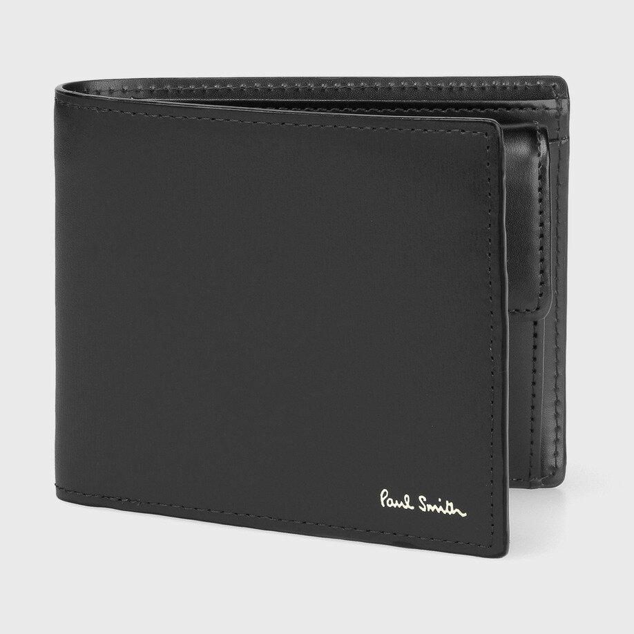ポールスミス(paul smith) 折財布 ブラック シティエンボス (メンズ)