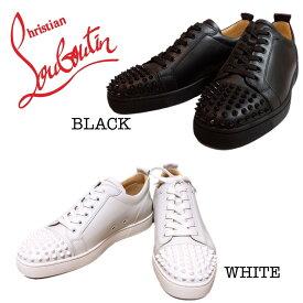 【新品】Christian Louboutin LOUIS JUNIOR SPIKES FLAT CALF 1130573 ルブタン スタッズ シンプル BLACK 黒 WHITE 白 スニーカー メンズ 誕生日