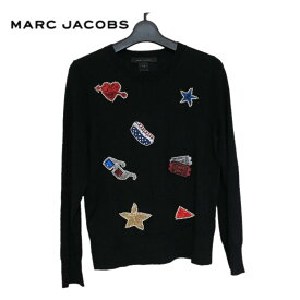 【新品】MARC JACOBS マークジェイコブス スパンコール×ワッペン ニット ブラック