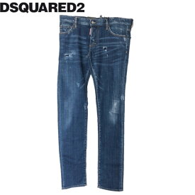 【新品】確実正規品 DSQUARED2 ディースクエアード SLIM JEAN スリム ジーンズ ネイビー 紺 メンズ TG50 L