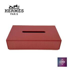 【極美品】 HERMES エルメス ティッシュボックス BOX ラッカーウッド レッド 赤 ケース 小物アクセサリー インテリア 家具 正規品 本物