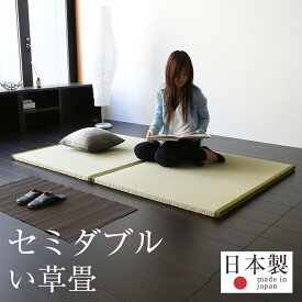 畳ベッド セミダブル 置くだけ フローリング畳 樹脂 畳2枚1セット 日本製 1年間保証 【おくだけフローリング畳ベッド 中国産い草畳】 おすすめ セミダブルベッド 置き畳 たたみベッド 送料無料