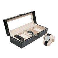 腕時計収納ケース6本収納可能ブラックT-022001