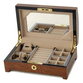 【訳あり・外箱なし】ロイヤルハウゼン ジュエリーボックス 収納ケース SDJR010 鏡付き 鍵付き 化粧箱はついておりません