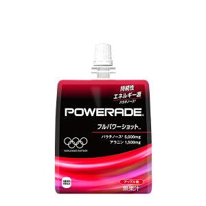 【送料無料】 コカ・コーラ パワーエイドゼリー フルパワーショット 180gパウチ (6本入り) 6入 持続性エネルギー源である、パラチノースを5,000mg配合。スポーツ/運動時の持続的なパフォーマ