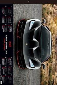 特大サイズ スーパースポーツカー フィルムカレンダー  カレンダー 2020年カレンダー カレンダー2020 壁掛けカレンダー スポーツカーカレンダー