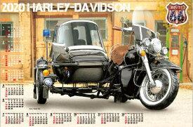 カレンダー ハーレーダビッドソン 不織布カレンダー 2020年カレンダー  令和2年カレンダー カレンダー2020 ポスターカレンダー バイク 特大サイズ