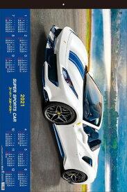 特大サイズ スーパースポーツカー フィルムカレンダー  カレンダー 2021年カレンダー 令和3年 カレンダー2021 壁掛けカレンダー スポーツカー 車 カレンダー