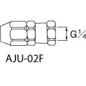 アネスト岩田 ホースジョイント G1/4袋ナット AJU02F [284-2386] 【コンプレッサー】[AJU-02F]