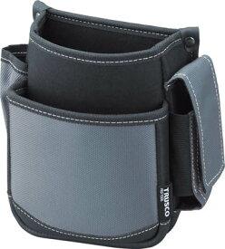 TRUSCO 腰袋(2段・携帯電話ホルダー付き) グレー TWP2GY [365-6179] 【ツールホルダー・バッグ】[TWP2-GY]
