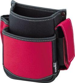 TRUSCO 腰袋(2段・携帯電話ホルダー付き) レッド TWP2R [365-6187] 【ツールホルダー・バッグ】[TWP2-R]