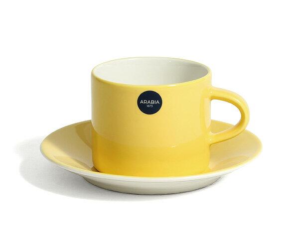 【全品ポイント5倍/要エントリー】アラビア カラーズ イエロー コーヒーカップ&ソーサー Arabia Colors Yellow 100342/347 【耐熱 電子レンジ対応 AATAMI】【ラッキーシール対応】