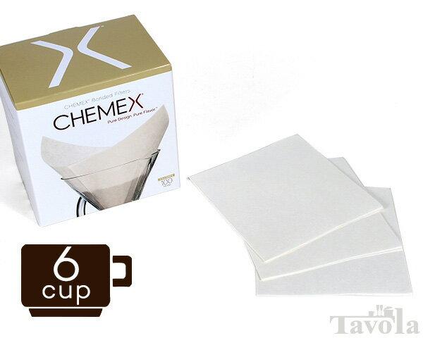 【MAX500円クーポン配布中】ケメックス CHEMEX 専用フィルターペーパー FS-100 6カップ用 100枚入り(ペーパーフィルター 6カップ)