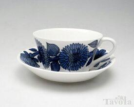 【復刻版】 グスタフスベリ ブルーアスター 495-08/3 ティーカップ&ソーサー GUSTAVSBERG Blue Aster