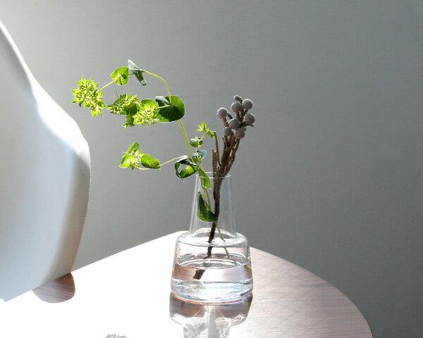 ホルムガード フローラ ベース 12cm ミディアム クリア Holmegaard Flora vase 【花瓶 マウスブロウ(手吹き) 一輪挿し フラワーベース】【ラッキーシール対応】
