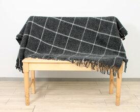 クリッパン(KLIPPAN) 200866 Vinga/ビンガ ウールスローケット 130×200cm ダークグレー(グレイ) 【毛布 ブランケット ひざ掛け】【ラッキーシール対応】