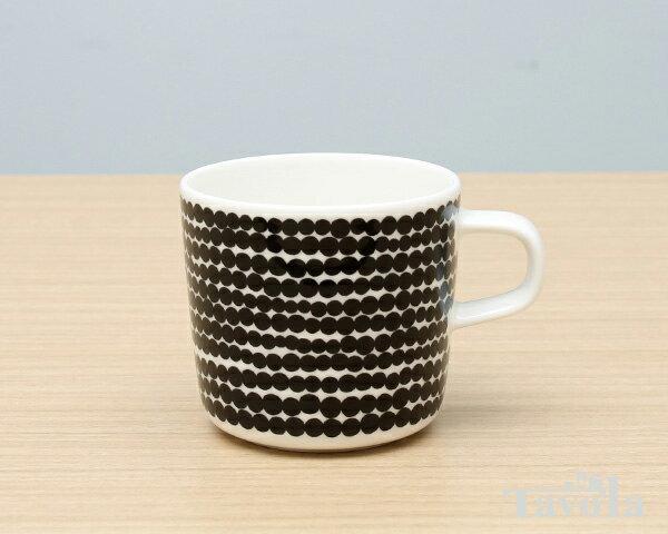 マリメッコ シイルトラプータルハ コーヒーカップ 200ml ホワイト/ブラック marimekko SIIRTOLAPUUTARHA【あす楽対応】【ラッキーシール対応】