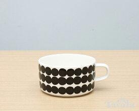 マリメッコ シイルトラプータルハ ティーカップ 250ml ブラック marimekko SIIRTOLAPUUTARHA【ラッキーシール対応】