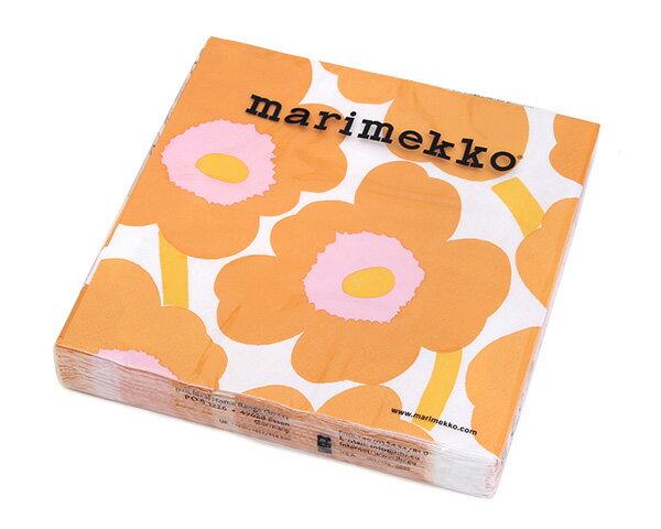 マリメッコ ペーパーナプキン ウニッコ オレンジ 33x33cm 20枚入り marimekko UNIKKO 【紙ナプキン】【ラッキーシール対応】