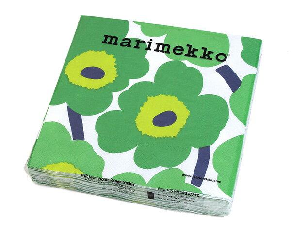 マリメッコ ペーパーナプキン ウニッコ グリーン 33x33cm 20枚入り 552620 marimekko UNIKKO 【紙ナプキン】【ラッキーシール対応】