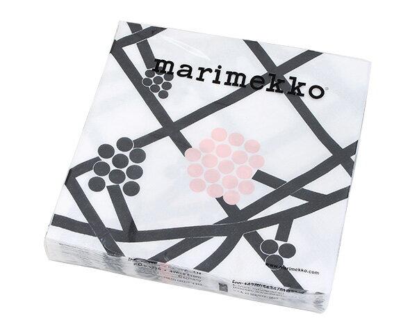 マリメッコ ペーパーナプキン ホルテンシエ ブラック 33x33cm 20枚入り 732400 marimekko HORTENSIE 【紙ナプキン】【ラッキーシール対応】
