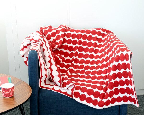 マリメッコ ラシィマット ブランケット 130×182cm ホワイト/レッド marimekko RASYMATTO 【北欧 毛布 カバー】【ラッキーシール対応】