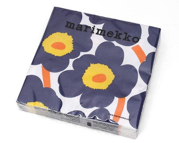 マリメッコ ペーパーナプキン ウニッコ ダークブルー 33x33cm 20枚入り marimekko UNIKKO 【あす楽対応】【紙ナプキン】【ラッキーシール対応】