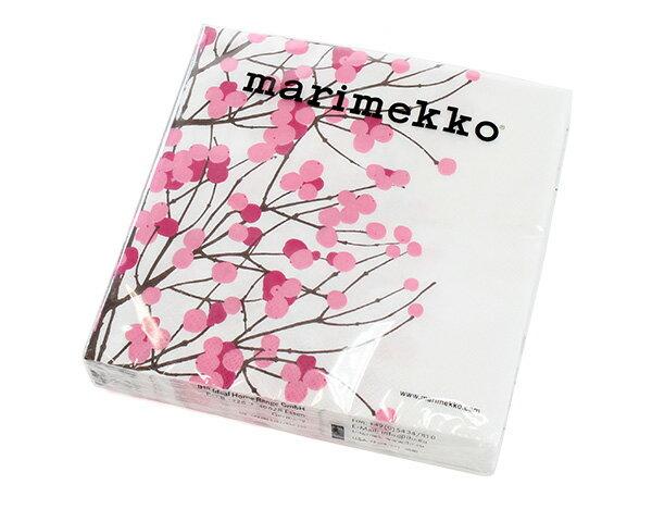マリメッコ ペーパーナプキン ルミマルヤ ピンク 33x33cm 20枚入り marimekko LUMIMARJA 【あす楽対応】【紙ナプキン】【ラッキーシール対応】