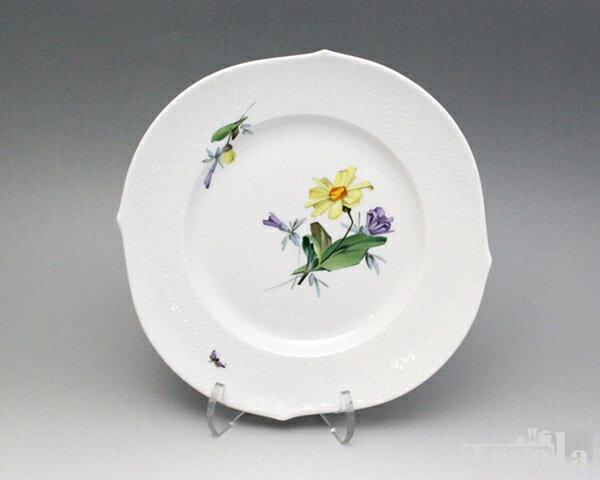マイセン アルペンフローラ 2つ花 616201-29472-2 プレート 23cm (3) 【お皿】