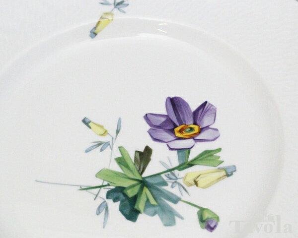 マイセン アルペンフローラ 2つ花 616201-29472-4 プレート 23cm (4) 【お皿】