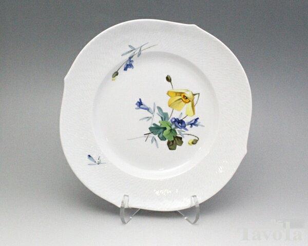 マイセン アルペンフローラ 2つ花 616201-29472-5 プレート 23cm (1) 【お皿】