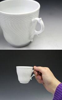 リチャードジノリベッキオホワイト2770/2830(9301)コーヒーカップ&ソーサーLサイズ200cc【YDKG-s】