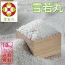 【送料無料】【白米】山形県産雪若丸白米10kg(5kg×2)【一等米】【10kg】