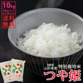 【白米】30年山形県産特別栽培米つや姫 10kg(5kg×2)【自社精米工場直送】【送料無料】