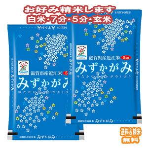 玄米 新米 米 10kgみずかがみ 滋賀県産 令和2年産 送料無料 お米 分つき米