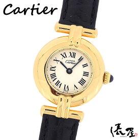 【コンプリート済】カルティエ マストコリゼ Dバックル【ベルト交換無料】アンティーク 時計 レディース 極美品 Cartier