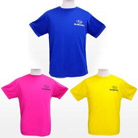 16a1e4dcb010f1 SUBARUオリジナル ドライTシャツ GTカーピンク/イエロー/ブルー 各種【SUBARUオンライン