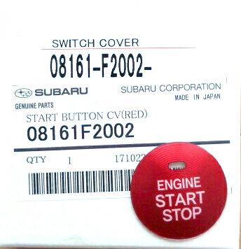 【STI-スバル】「08161F2002」SUBARU純正品スタートボタンカバー(レッド)/START BUTTON CV(RED)【SaM】【ゆうパケット(メール便)OK】【コンビニ受取対応商品】