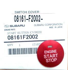 【STI-スバル】「08161F2002」SUBARU純正品スタートボタンカバー(レッド)/START BUTTON CV(RED)【ゆうパケット(メール便)OK】【コンビニ受取対応商品】