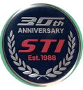 ST91053VV280【STI-スバル】WRX RA-R用STI30周年記念オーナメントシール/ステッカー/エンブレム【メール便OK】【コンビニ受取対応商品】