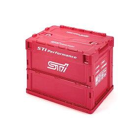 STSG18100080 【STI-スバル】折りたたみコンテナ S CHERRY RED ver.【SUBARU純正】スバル公式 STIグッズ チェリーレッド 折り畳みコンテナ 20Lサイズ