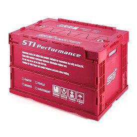 【STI-スバル】【スバル純正】STSG18100090 折りたたみコンテナ MCHERRY RED ver.【SaM】