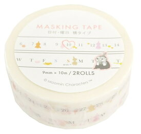 【ムーミン】マスキングテープ 日付・曜日 横タイプ ムーミン リトルミィ MOO-36015 デルフィーノ