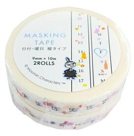 【ムーミン】マスキングテープ 日付・曜日 縦タイプ ムーミン リトルミィ MOO-36014 デルフィーノ